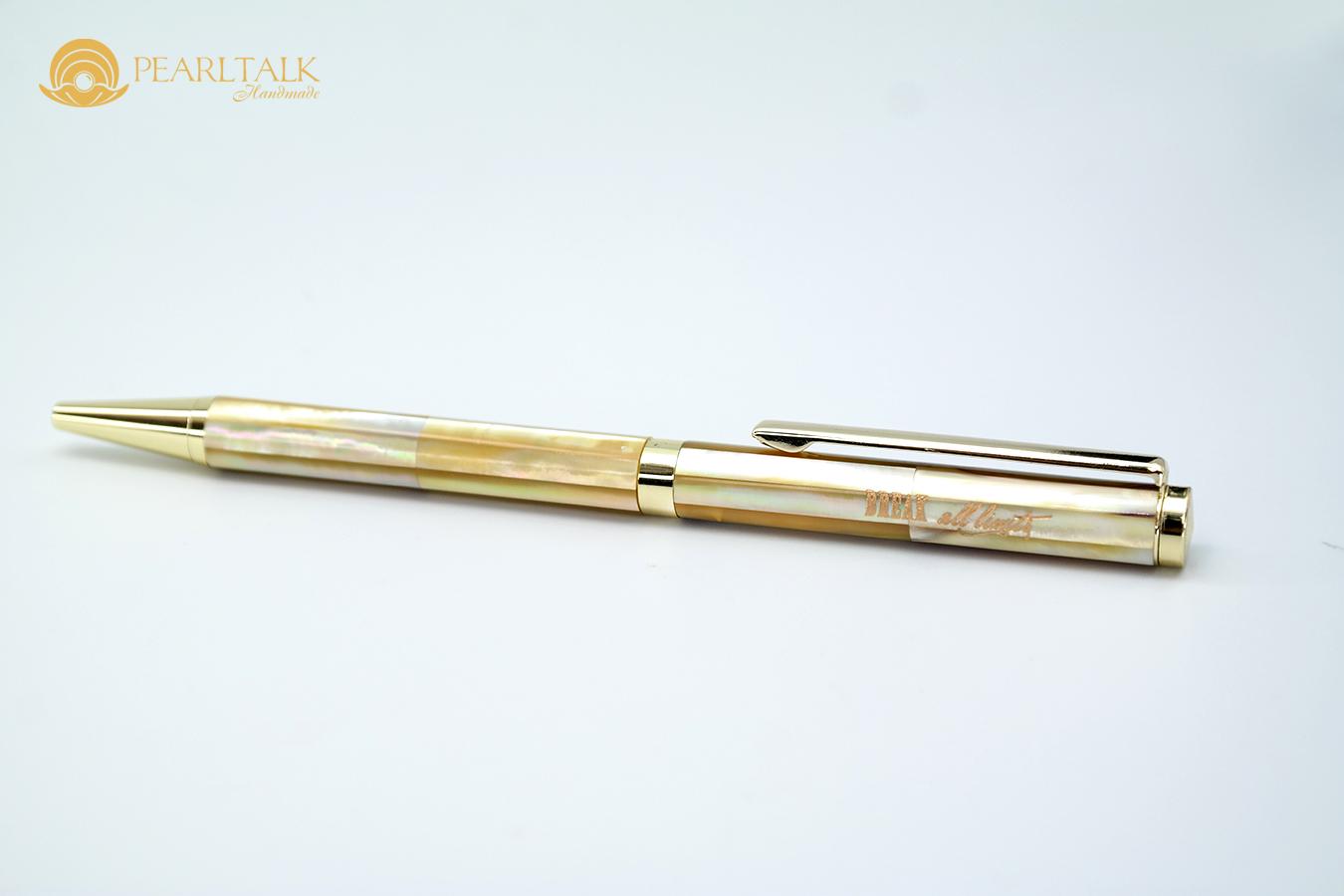 Bút Pearltalk phổ thông form 1 (thân nhỏ) - màu vàng