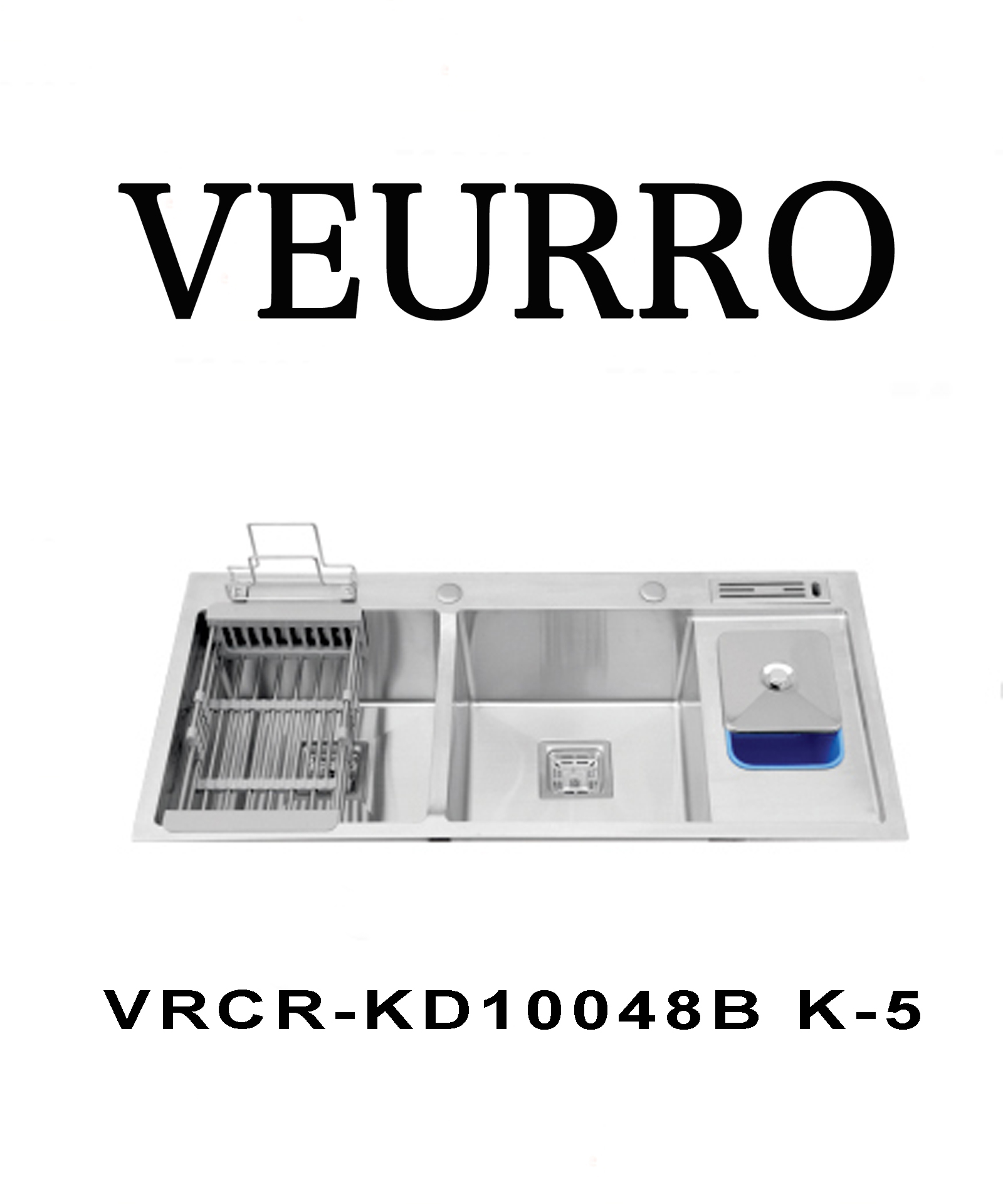 Chậu Rửa Chén Inox 304 Veurro VRCR-KD10048 K-5