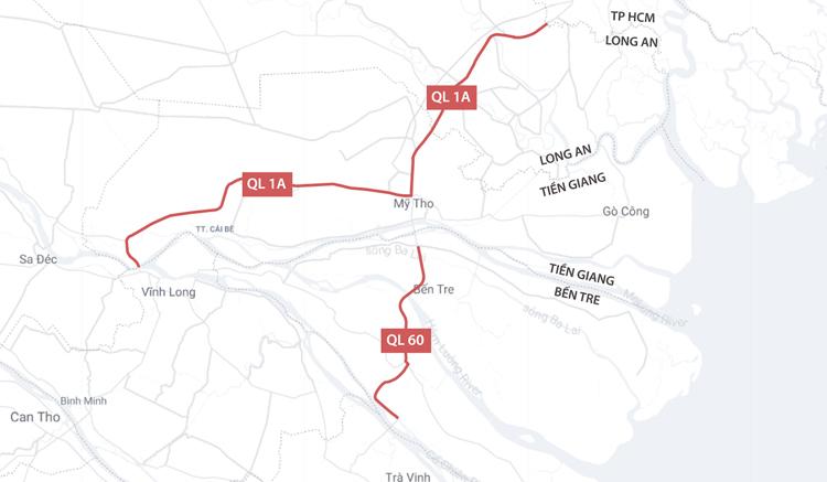 Hai dự án mở rộng đường về miền Tây sắp hoàn thành