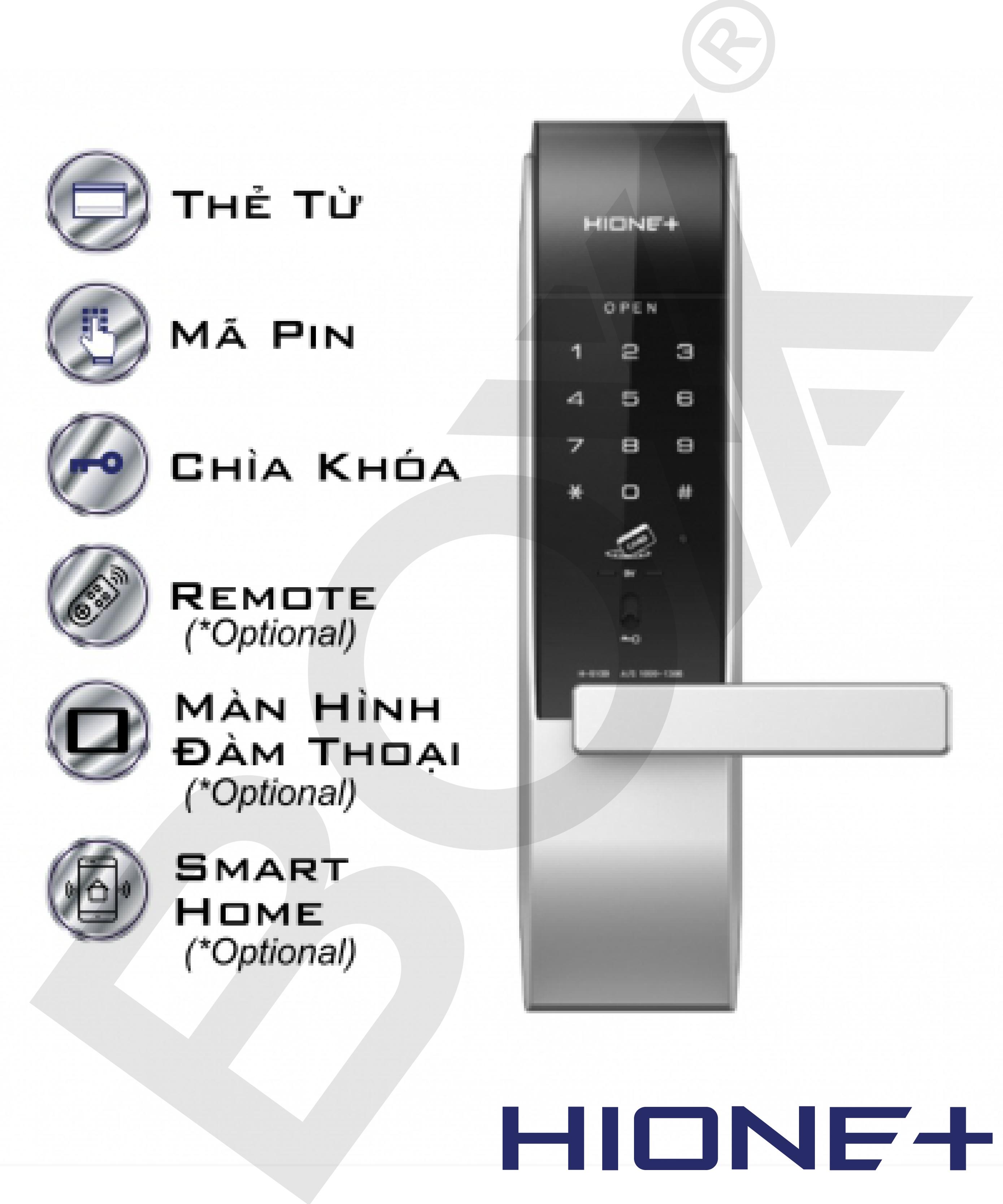 Khóa tay cầm thẻ từ/ mật khẩu H-5100