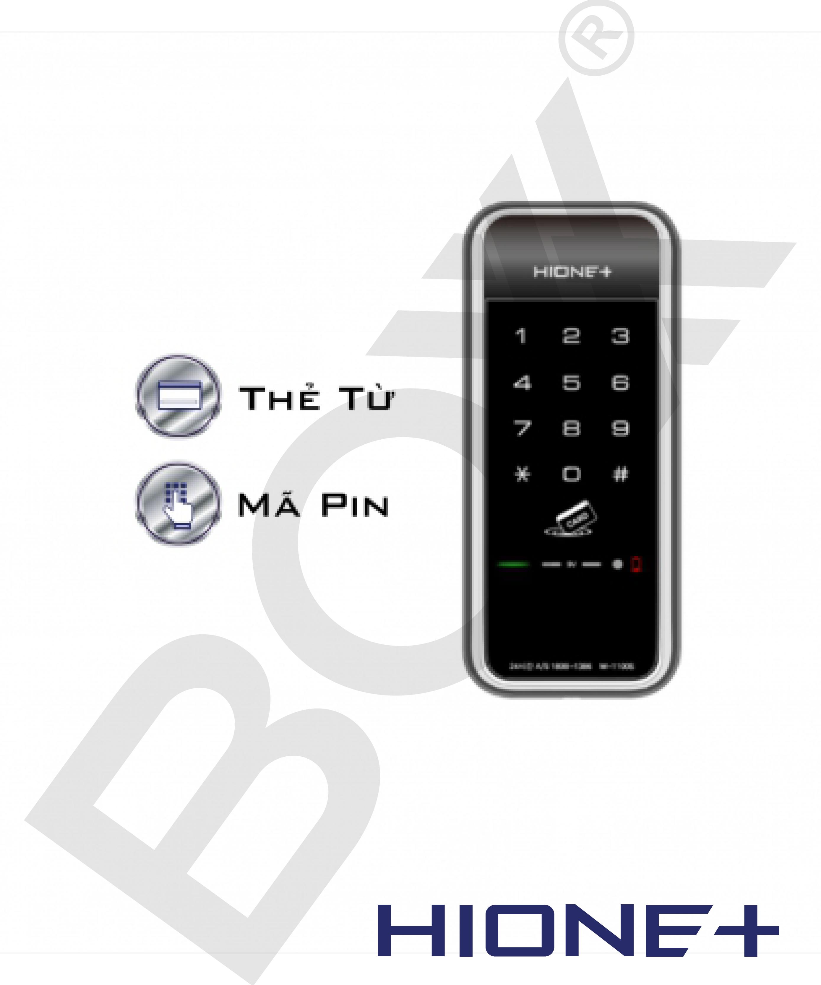 Khóa mini thẻ từ/ mật khẩu M1100
