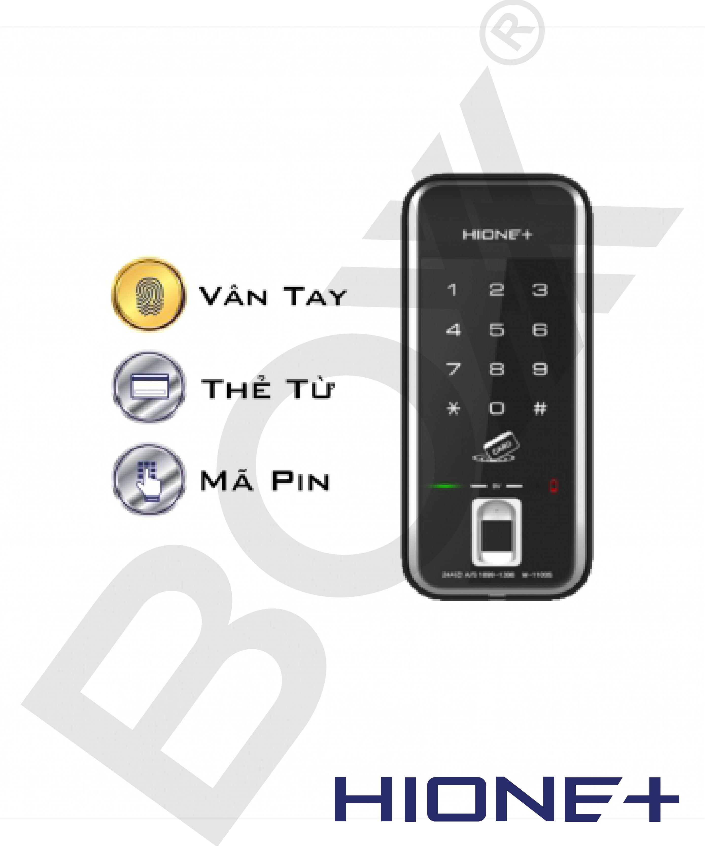 Khóa mini vân tay/ thẻ từ/ mật khẩu M1190