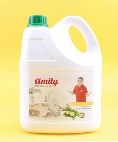 Nước rửa chén Amity hương chanh sả 3.8kg