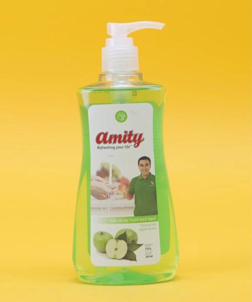 Nước rửa tay Amity hương táo - có vòi nhấn 350g