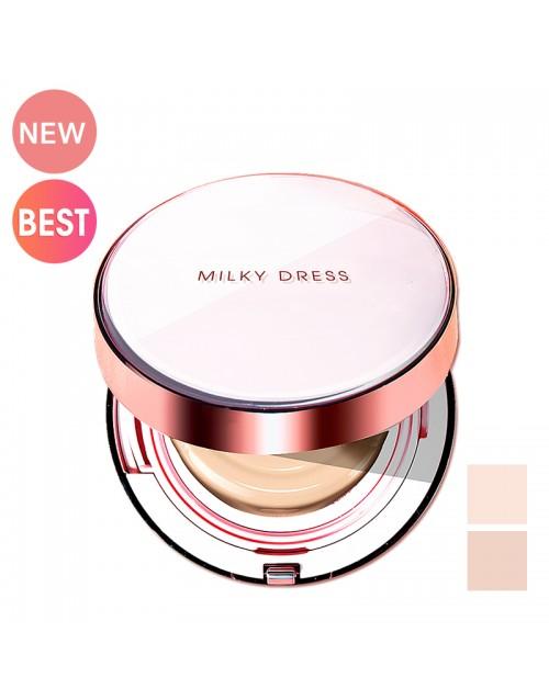 PHẤN TRANG ĐIỂM DẠNG NƯỚC CHE KHUYẾT ĐIỂM CAO MILKY DRESS TRILLBEIGE COFFEE CUSHION  NO 23 DSMWBM438