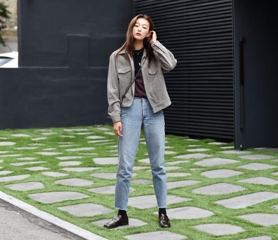 Quần jeans ống lửng hớp hồn phái đẹp toàn thế giới