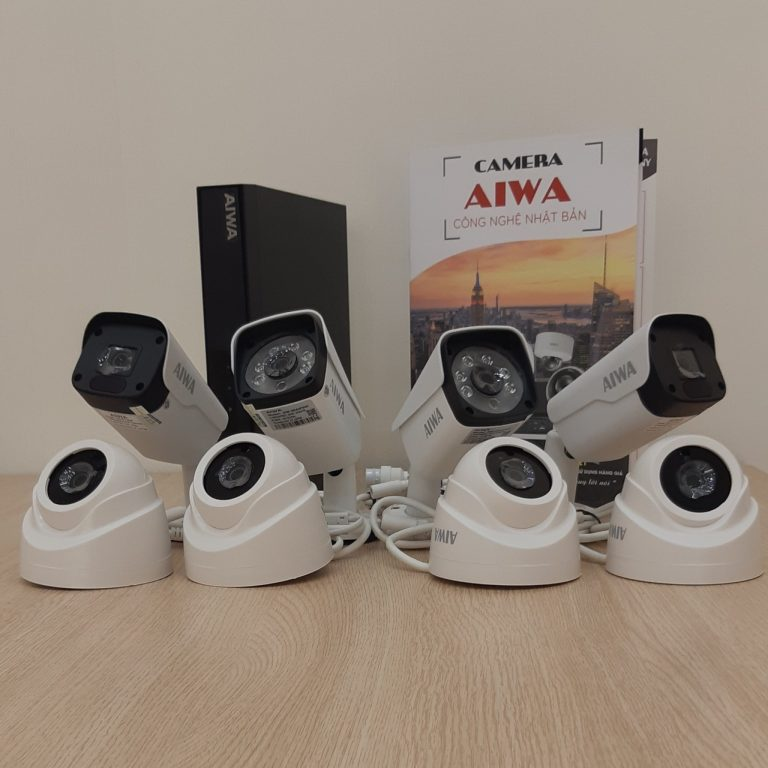 TRỌN BỘ 8 CAMERA IP AIWA JAPAN CHIP SONY 2.0MP