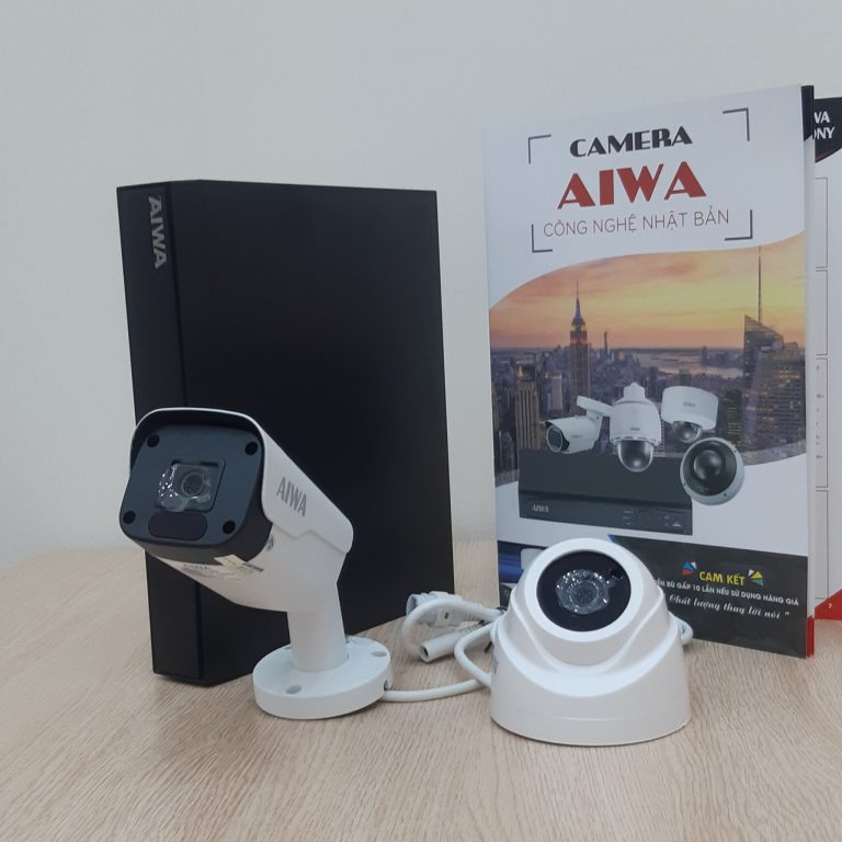 TRỌN BỘ 2 CAMERA IP AIWA JAPAN CHIP SONY